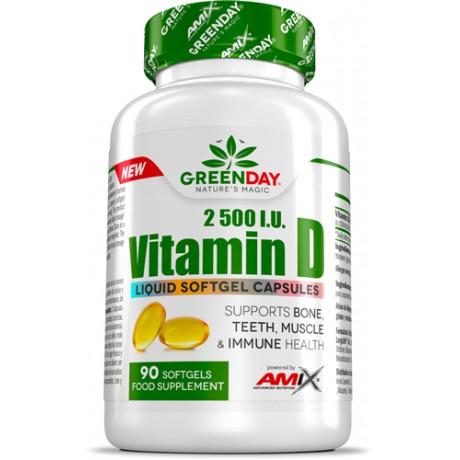 Vitamin D3 2500 I.U. 90 CAPS - Greenday