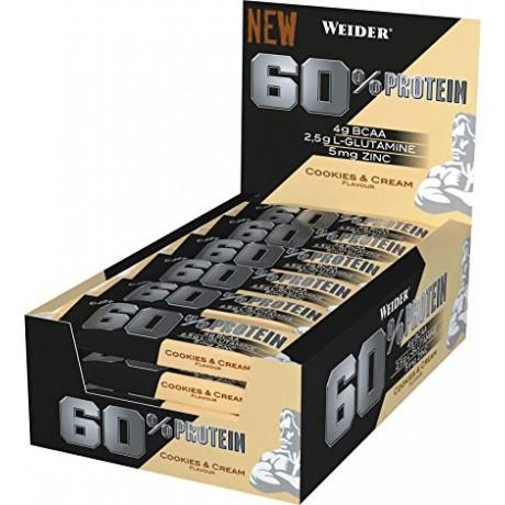 Barritas 60% Protein Bar 45 gr x 24 - Weider