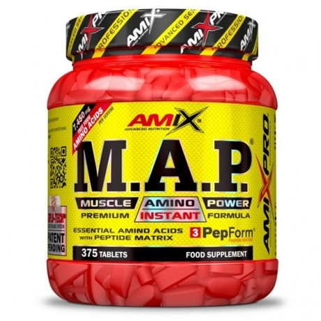 Aminoácidos MAP Muscle Amino Power 375 TABL - Amix