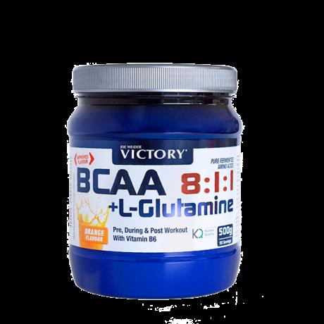 Aminoácidos BCAA 8:1:1 + Glutamina 500 gr - Victory